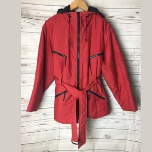 Andy John AJ Retro Winter Snow Red Jacket Large